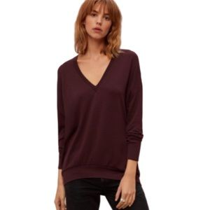 Wilfred Free Mauve Long Sleeves Top